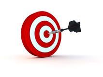 Arrow in target. 3d render royalty free illustration