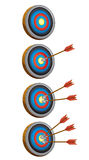 Arrow target game Stock Photos