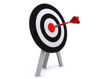 Arrow and target Royalty Free Stock Photo