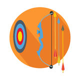 Arrow with Target Icon Button Archery Sign, Symbol Stock Photo