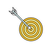 Arrow with Target Icon Stock Images