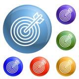 Arrow target icons set vector royalty free illustration