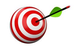 Arrow and target Stock Image