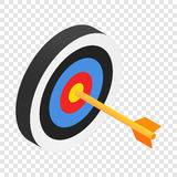 Arrow in target isometric 3d icon. On transparent background Stock Photos