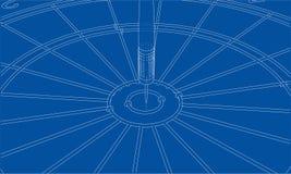 Arrow in target. Vector. EPS10 format, rendering of 3d Stock Photos