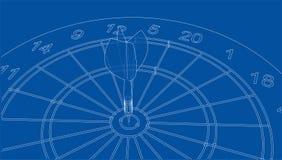 Arrow in target. Vector. EPS10 format, rendering of 3d Stock Photo