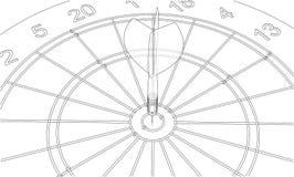 Arrow in target. Vector. EPS10 format, rendering of 3d Stock Image
