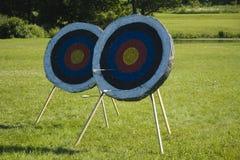 Arrow targets Stock Photo