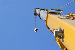Arrow of telescopic crane. Arrow and hook of telescopic crane Royalty Free Stock Photography