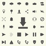 arrow to down icon. web icons universal set for web and mobile stock illustration