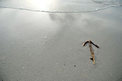 Arrow to go 1. Arrow to go on the beach Stock Photo