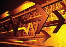 Arrow to success Stock Photography