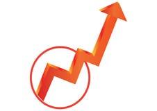 Arrow to success - vector Royalty Free Stock Photo