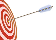Arrow in to target stock illustration