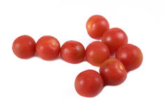 Arrow tomatoes Royalty Free Stock Image