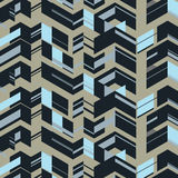 Arrow Tower. Blue Arrow Tower Pattern Design Stock Images