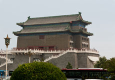 Arrow Tower Just South of the Main Gate into Ancient Beijing. An arrow tower guards the Beijing's old main gate, Zhengyangmen, also called Qianmen (front gate Stock Photos