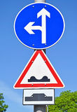 Arrow traffic sign Royalty Free Stock Photography