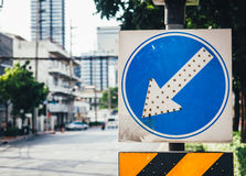 Arrow traffic signboard royalty free stock photo