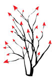 Arrow tree. Illustration raster design Royalty Free Stock Photos