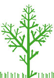Arrow tree with grass. Vector background Vector Illustration