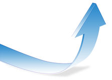 Arrow Up. Graphic illustration of arrow in an upswing Royalty Free Stock Images