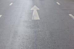 Arrow up on asphalt street Stock Image