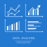 Arrow up diagrams on blue. Arrow up diagrams, infographic elements on blue, vector illustration Stock Photos