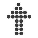 Arrow up dots graphic design. Royalty Free Stock Photography