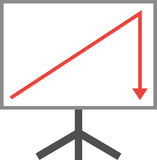 Arrow up and down on board. Royalty Free Stock Photo