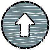 Arrow up icon. Vector illustration on gray background Stock Photos
