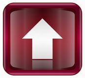 Arrow up icon red Royalty Free Stock Photo