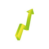 Arrow up increase Stock Images