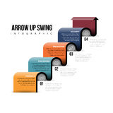 Arrow Up Swing Infographic Royalty Free Stock Image