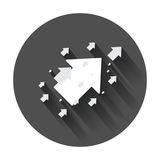 Arrow up vector icon. Forward arrow sign illustration. Business vector illustration