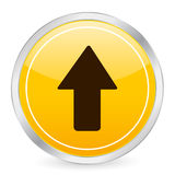 Arrow up yellow circle icon Royalty Free Stock Image