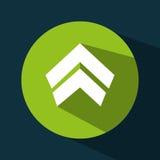 Arrow upload data icon stock illustration