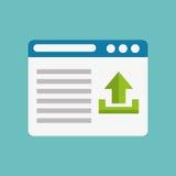 Arrow upload data icon vector illustration