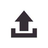 Arrow upload data icon Stock Photography