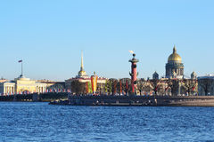 Arrow Vasilevsky Island, St.Petersburg Royalty Free Stock Image