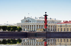 Arrow of Vasilevsky Island in St. Petersburg Royalty Free Stock Image