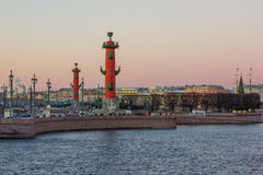 Arrow of Vasilievsky Island Stock Images