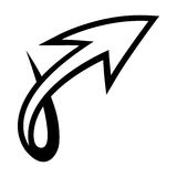 Arrow vector icon. Vector illustration of a dynamic arrow icon Royalty Free Stock Photos