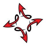 Arrow vector icon. Vector illustration of a dynamic arrow icon Stock Photos