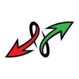 Arrow vector icon. Vector illustration of a dynamic arrow icon Stock Image