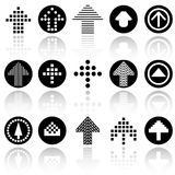 Arrow vector icons set . EPS10. Royalty Free Stock Images
