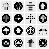 Arrow vector icons set on gray Stock Photography