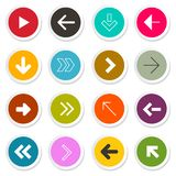 Arrow. Vector Set. Arrows in Colorful Circles royalty free illustration