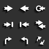 Arrow vector sign icon set Royalty Free Stock Images