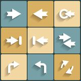 Arrow vector sign icon set Royalty Free Stock Photos